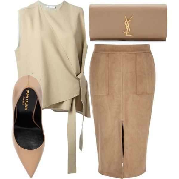 A fashion look from October 2015 featuring J.W. Anderson tops, River Island skirts and Yves Saint Laurent pumps. Browse and shop related looks.