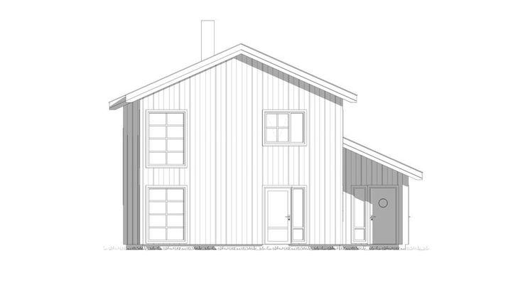 Fasade Nupen - kataloghus fra Norgeshus.