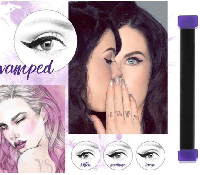 Vamp Stamp Easy Cat Eye Wing Eyeliner Stamp Eyeliner Ink VERGE Angle Brush Tool  | eBay