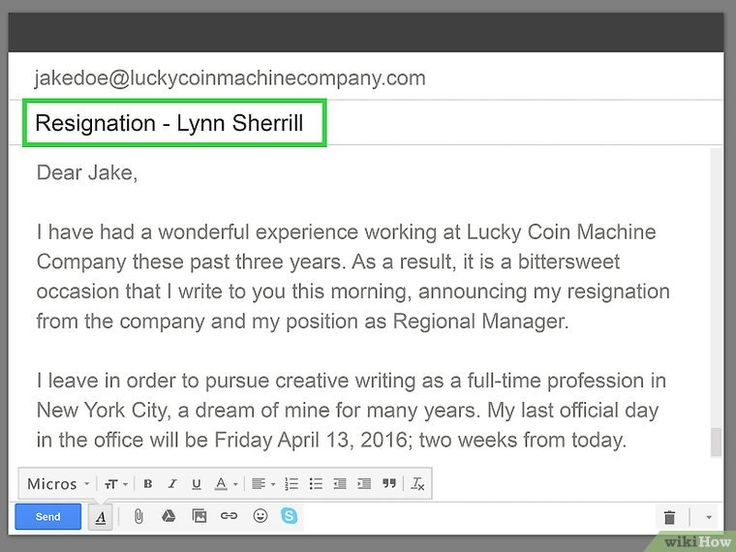 How to Write a Resignation Letter 11 Steps (with Pictures