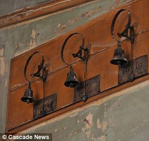 Victorian kitchen found forgotten - this type of bell is featured on Downton Abbey, too.