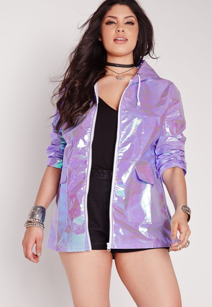 When metallic meets rainbow, feast your eyes on this chic-onomical rain coat. This bold trend will get everyone talking so make sure you're one step ahead. Featuring a hood, pockets to the front, and white exposed zip fastening. A must-have...