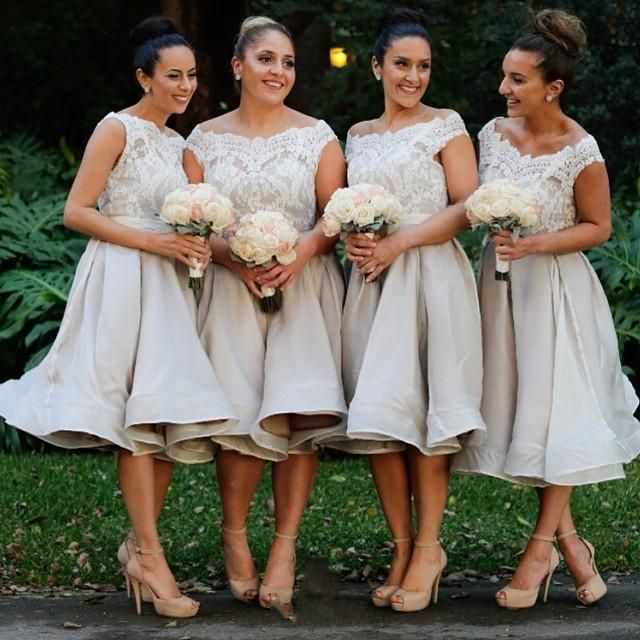 Bridesmaid Dress Uk Off Shoulder Lace Silver Bridesmaid Dresses Short Party Cocktail Dress A Line Formal Wedding Maid Of Honor Gowns 2015 Bridesmaid Dresses Northern Ireland From Everbridal1989, $82.69  Dhgate.Com