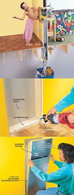 How to Install a Laundry Chute - you'll love having the convenience of a laundry chute in your home. We'll show you how to find a good wall location and install one yourself.