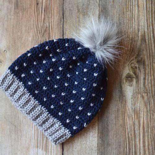 Free Crochet Snowfall Slouchy Hat Pattern
