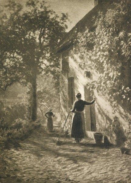 En la puerta, 1907 - Foto de  Leonard Misonne (1870 - 1943)