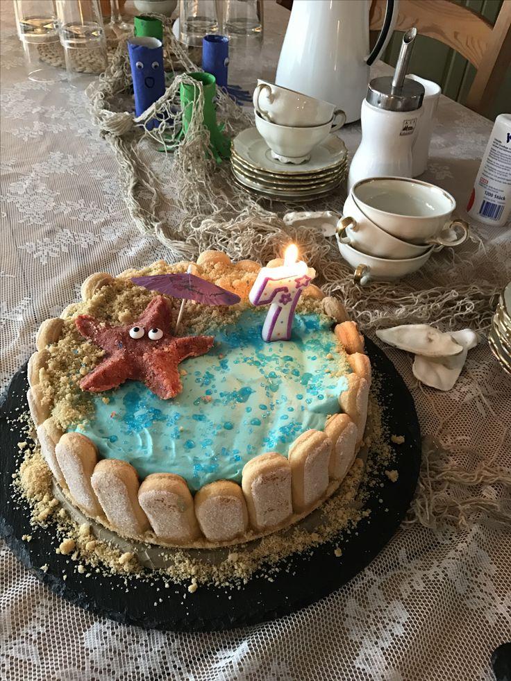 Seestern-Torte zum Meerjungfrauen-Geburtstag von der Patentante
