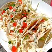 California Lobster Tacos at Cousins Maine Lobster