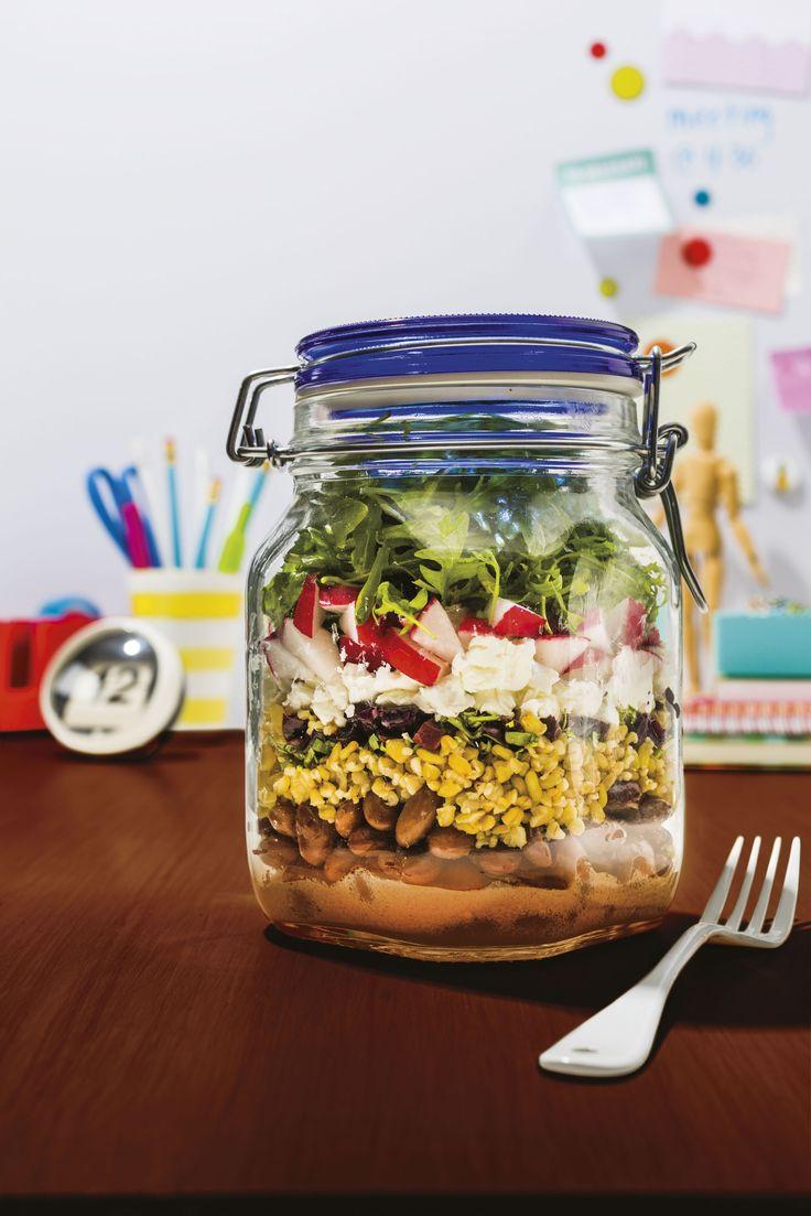 Como montar sua salada no pote