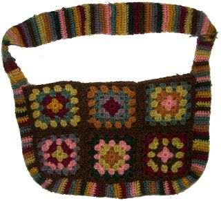 Free Crochet Granny Square Bag Pattern.