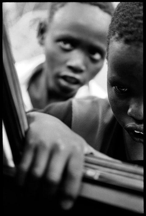 "Eli Reed KENYA. Kakuma Refugee Camp. August 2001. ""Lost Boys"" refugees  Magnum Photos"