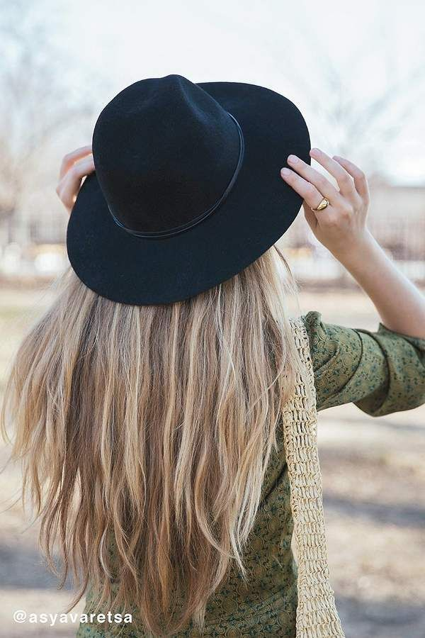5095b51043845 Urban Outfitters Anna Felt Panama Hat   Women's Fall Hats   Accessories for  Women   Black Fashion Hat