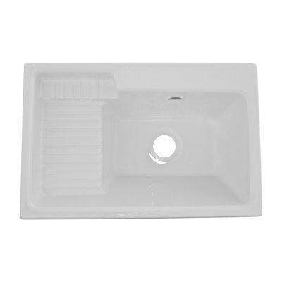 Acri-tec Industries 11041 Acrylic Europa Deluxe Laundry Sink