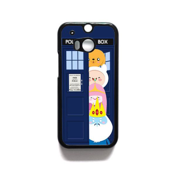 adventurre time character escape from dr who tardis HTC One M7 M8 iPod Touch 4 5 Case Cover