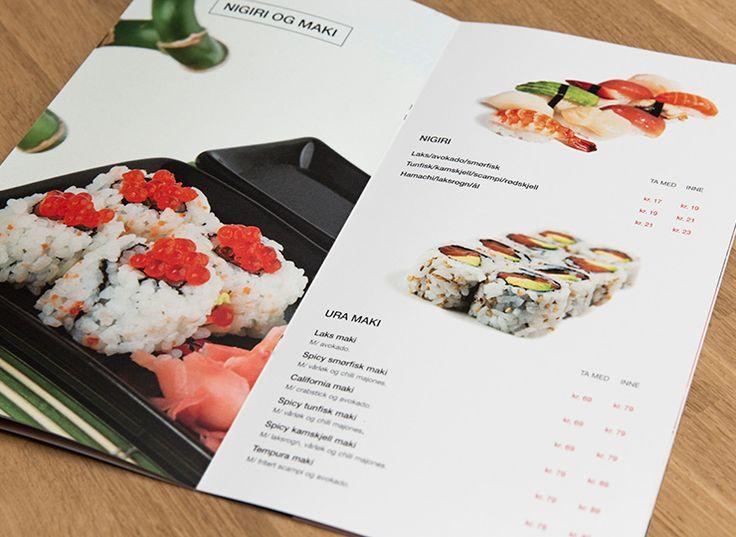 Sushi restaurant menu design