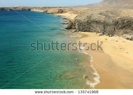 Beautiful Papagayo beach at Lanzarote