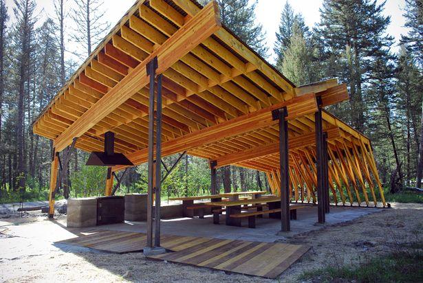 Wood Picnic Shelter : Now that s a picnic shelter pine creek pavilion artemis