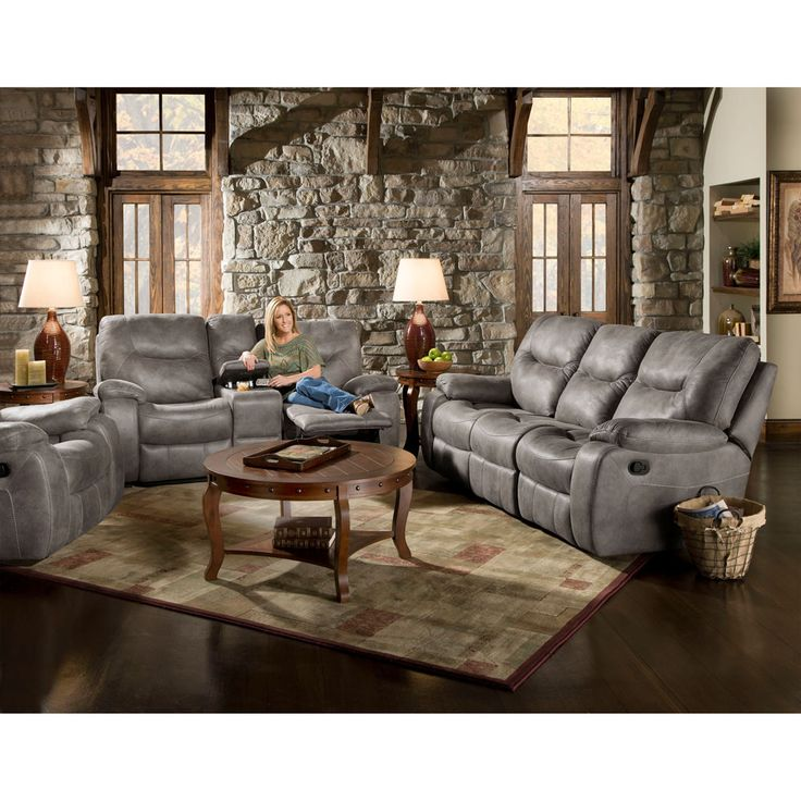 Sofa Beds Jagger Gray Reclining Sofa Loveseat Console Recliner Motion Living Set Sofa Sets Pinterest Grey reclining sofa Reclining sofa and Recliner