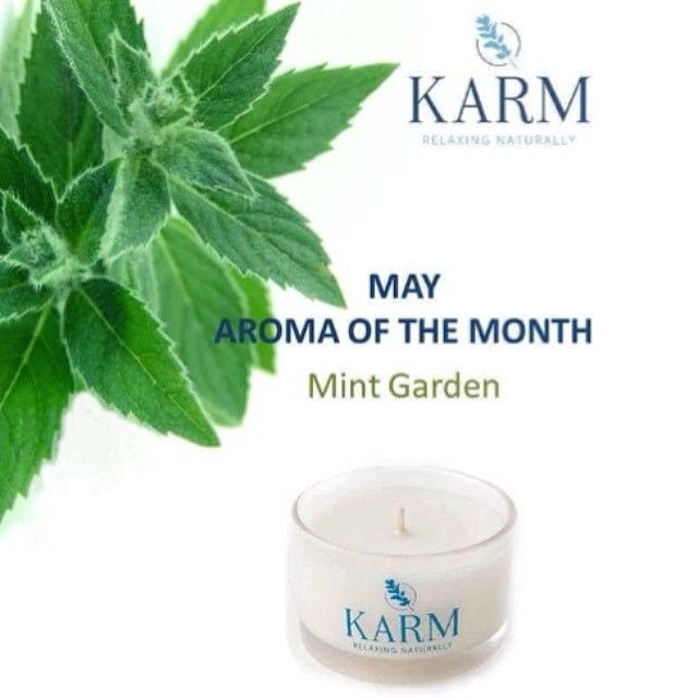 Karm Candles Aroma of the month.. Mint garden!  With essential oils of tea tree, spearmint and peppermint its the perfect fragrance this spring!  Make sure you smell this when you next visit our spa!  Starting from £15 :) #karmcandles #mint #health #wellbeing #like4like