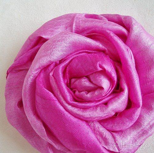 Pink silk scarf - Růžová hedvábná šálka Alter-ego - Fler.cz