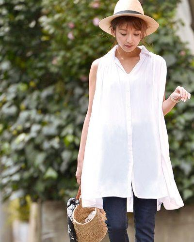 ふんわりしたシルエットが特徴のスキッパーシャツは夏にぴったり。30代アラサー女性のスキッパーシャツのコーデ♡