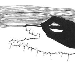 Ana Hatherly. «O escritor». 1975.