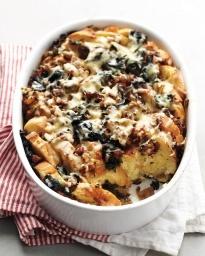 Spinach and Cheddar Strata | Recipe | Cheddar, Martha Stewart Recipes ...