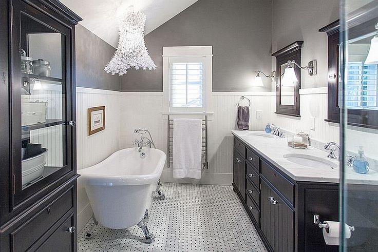 Badezimmer Schwarz Weiß Fliesen   Google Suche | Stil | Pinterest |  Badezimmer Schwarz, Weiße Fliesen Und Fliesen