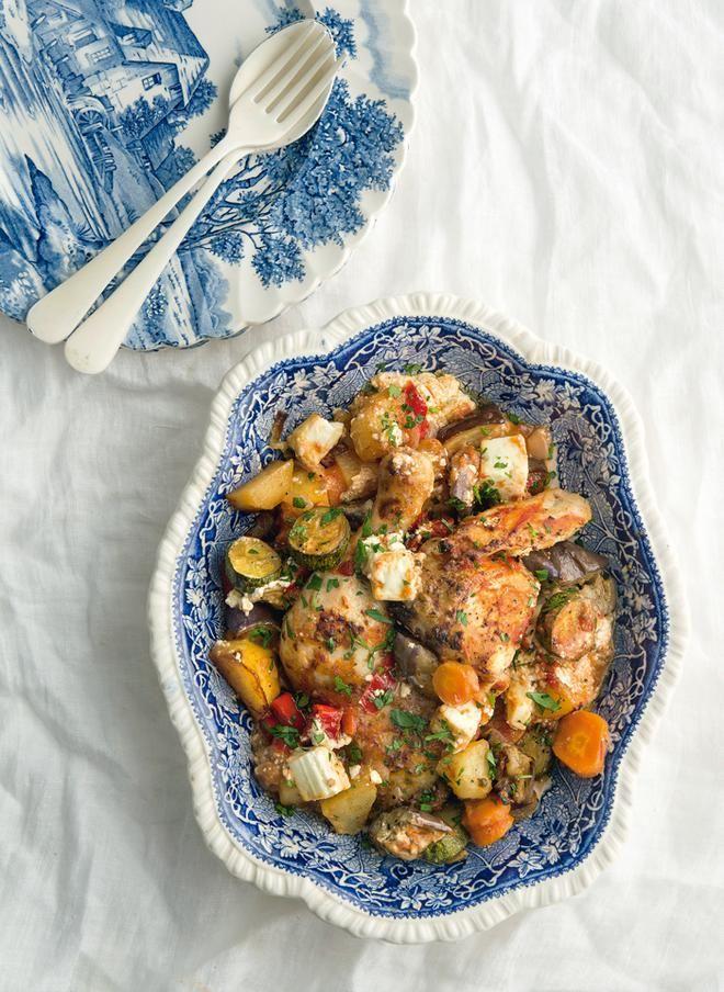 Κοτόπουλο στον φούρνο με λαχανικά μπριάμ