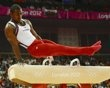 John Orozco of the U.S. competes in the pommel horse during the men