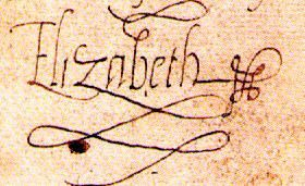 Queen Elizabeth's signature