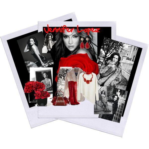 """Jennifer Lopez - fotos-black and white"" by goreti on Polyvore"