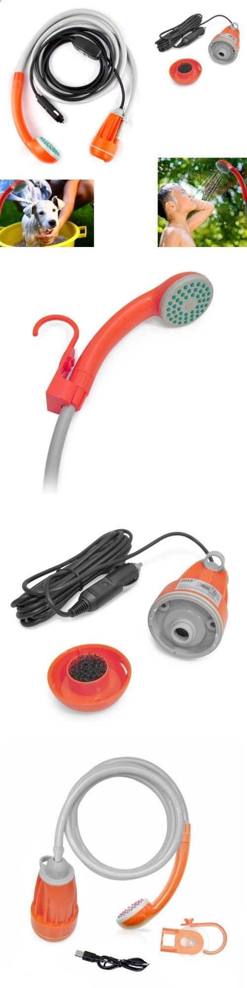 Portable Showers and Accessories 181396: Portable Camping Shower 12V Electric Outdoor Hiking Travel Water Pump Car Plug -> BUY IT NOW ONLY: $50.9 on eBay!