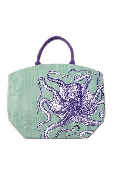 BEST SELLER! Octopus Reef Tote Bag - Unique Vintage - Prom dresses, retro dresses, retro swimsuits.