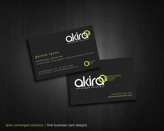 Business Card Design: daan-rutgers - akira business cards render