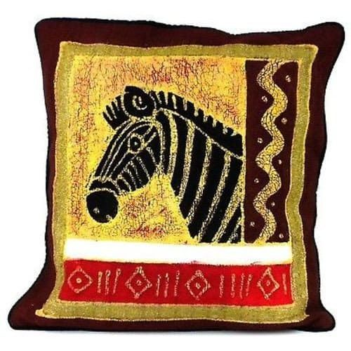 Handmade Colorful Zebra Red   Cushion Cover via Creative Designs. Click on the image to see more!