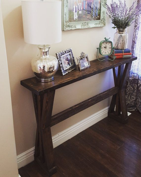 Rustic Farmhouse Entryway Table Sofa Table By ModernRefinement | For The  Home | Pinterest | Rustic Farmhouse Entryway, Entryway Tables And Rustic  Farmhouse