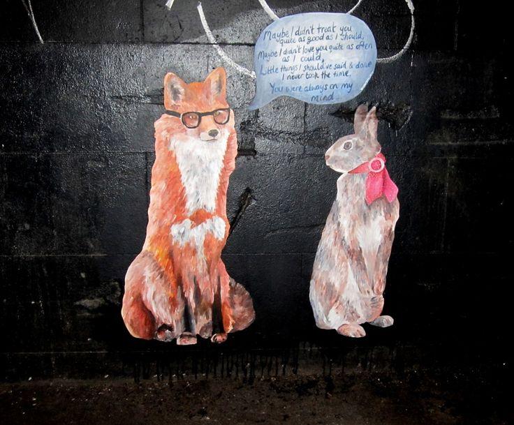 fox rabbit graffiti - Melbourne