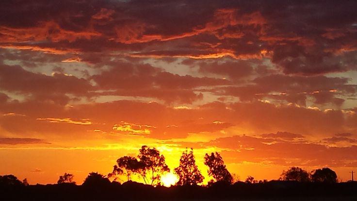 Sunset in Lethbridge (Australia)