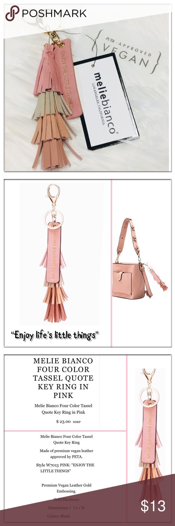 ❤️Melie Bianco Vegan handbag tassel Melie Bianco Vegan unscripted handbag tassel, NWT Details in photos. Melie Bianco Accessories Key & Card Holders
