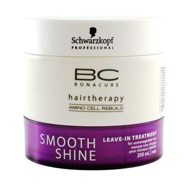 Schwarzkopf BC Bonacure Smooth Shine Mascara elimina o frizz e proporciona brilho duradouro. Reestrutura o interior do cabelo danificado.