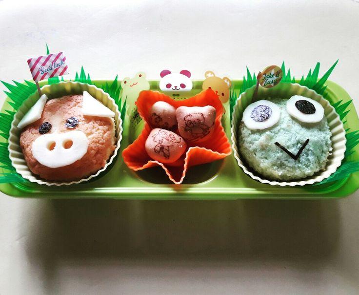 Animal fun snacks #funfood #funsnacks #funlunch #bento #bentomomma #bentokids #bentobaon