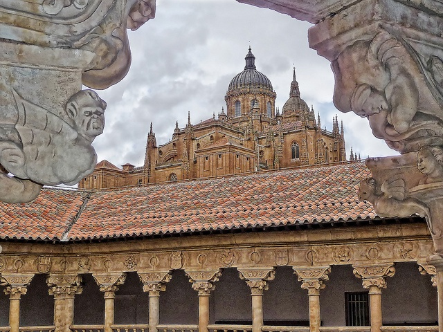 Old Cathedral from Las Dueñas cloister , Salamanca, Spain