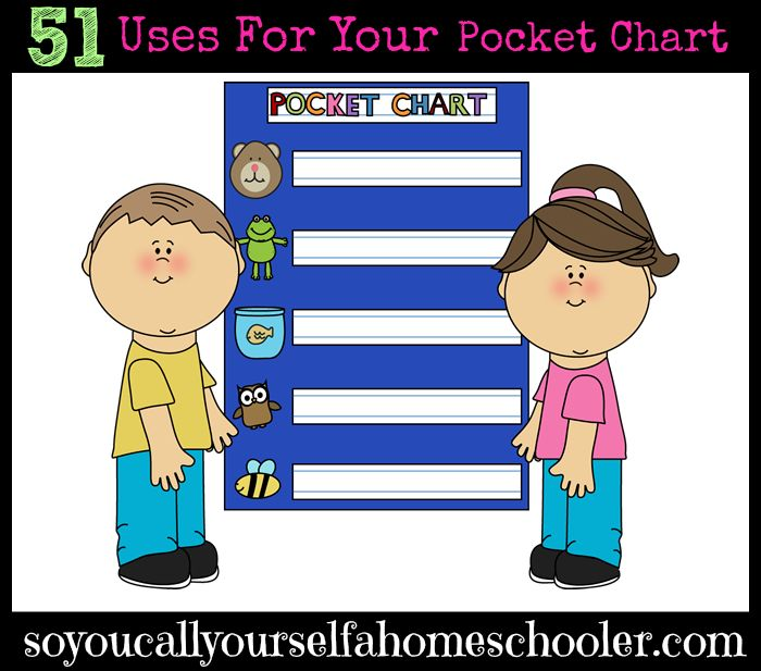 51 Uses For Your Pocket Chart :: Come see this extensive list of ways to maximize your pocket charts for preschool through high school. :: SoYouCallYourselfaHomeschooler.com