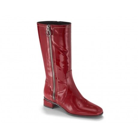 In love with LOTUS Red Patent Aquatalia by Marvin K. waterproof boot! Also comes in a beautiful forest green & a classic black patent.