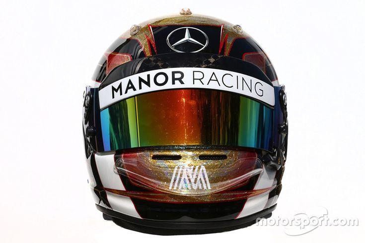 The helmet of Pascal Wehrlein, Manor Racing