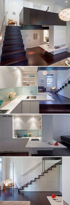 Small home design really makes good use of space… Clean lines with lots of light & high ceilings make rooms feel larger…………