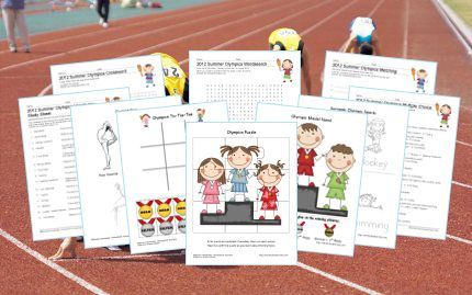 Summer+Olympics+-+Puzzles,+Printing+Practice,+&+More!