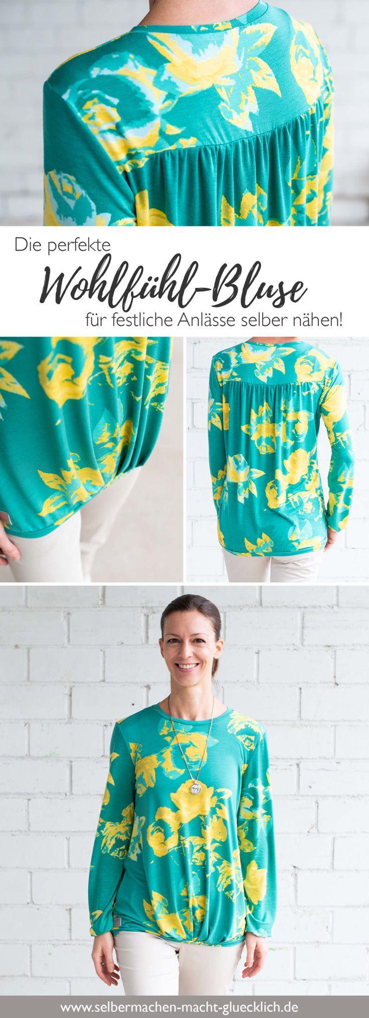 Die perfekte Wohlfühl-Bluse für festliche Anlässe selber nähen!