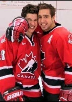 Sid Crosby and Max Talbot -- this is too cute! best buddies!